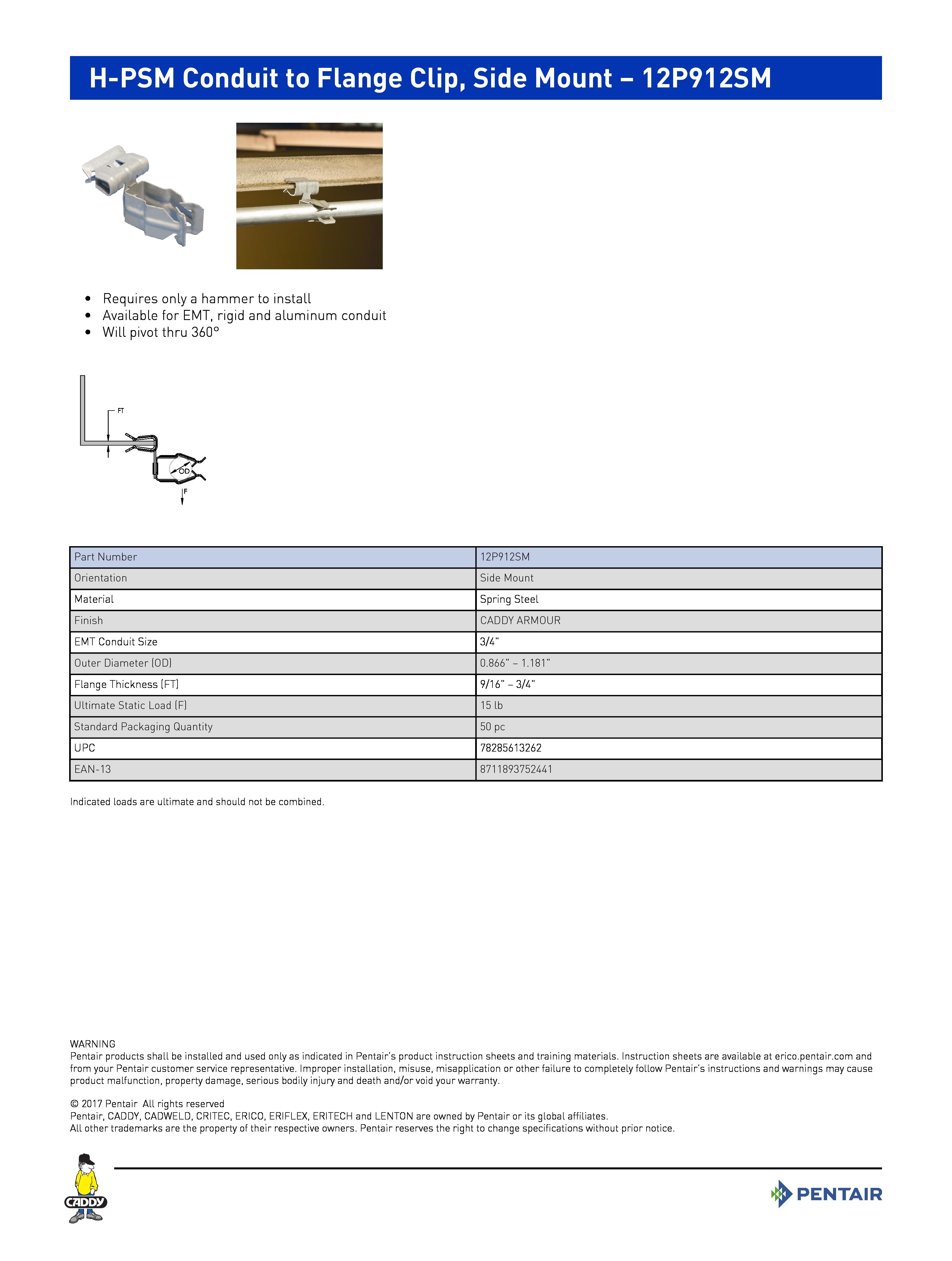 Shop CADDY 3/4EMT--3/4 FLG SD MNT | Suspension Systems | Fastening House