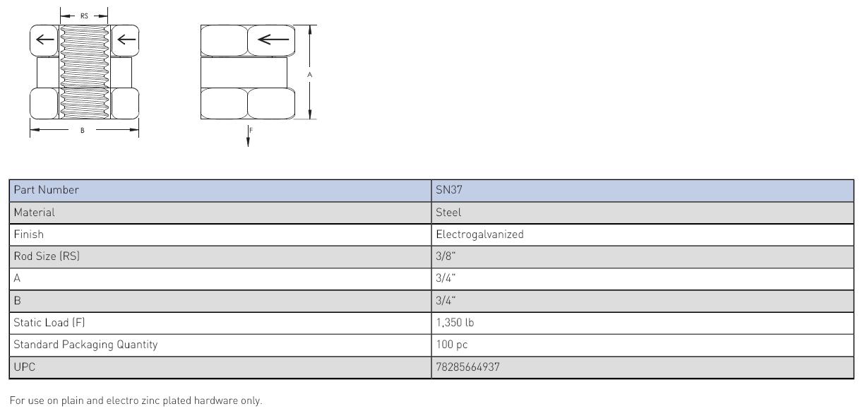The SN Series Nut (SN37)