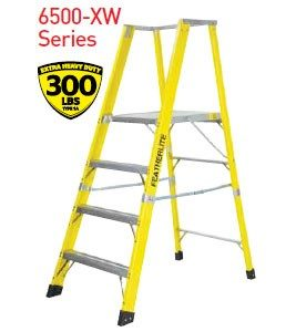 Yellow Featherlite ladder